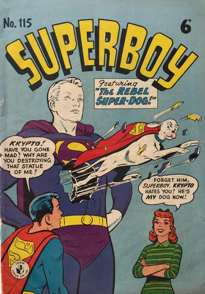 Cover for Superboy (K. G. Murray, 1949 series) #115 [6D Price]