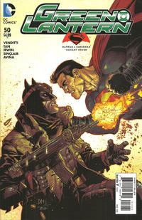 Cover Thumbnail for Green Lantern (DC, 2011 series) #50 [Batman v. Superman Variant]