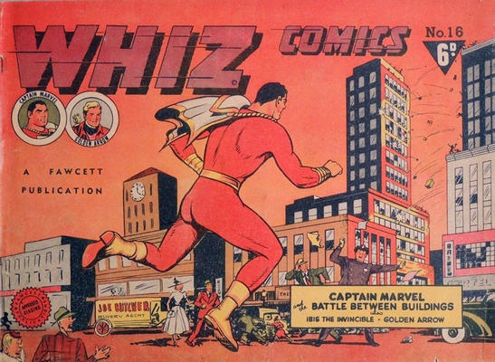 Cover for Whiz Comics (Cleland, 1946 series) #16