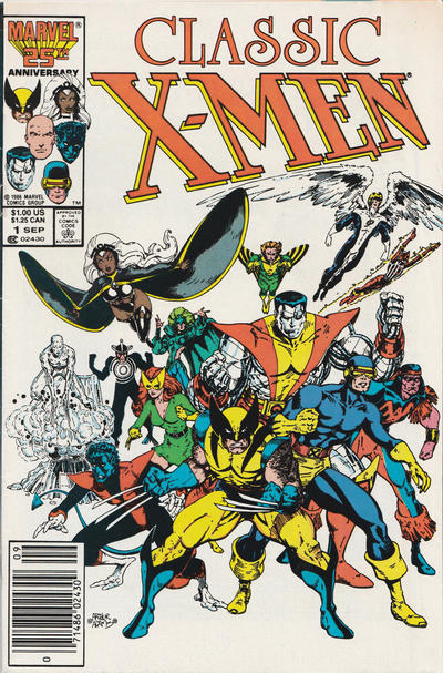Cover for Classic X-Men (Marvel, 1986 series) #1 [Direct Edition]