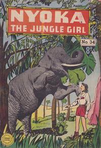 Cover Thumbnail for Nyoka the Jungle Girl (Cleland, 1949 series) #34