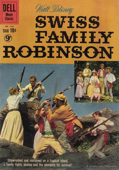 Cover for Four Color (Dell, 1942 series) #1156 - Walt Disney Swiss Family Robinson