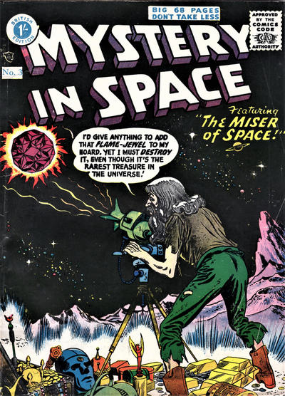 Cover for Mystery in Space (Thorpe & Porter, 1958 ? series) #3