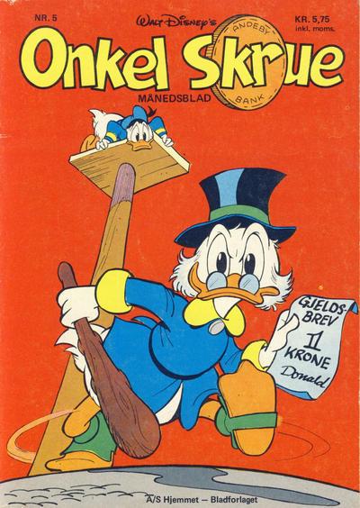 Cover for Onkel Skrue (Hjemmet / Egmont, 1976 series) #5