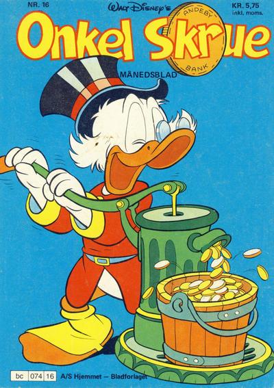 Cover for Onkel Skrue (Hjemmet / Egmont, 1976 series) #16