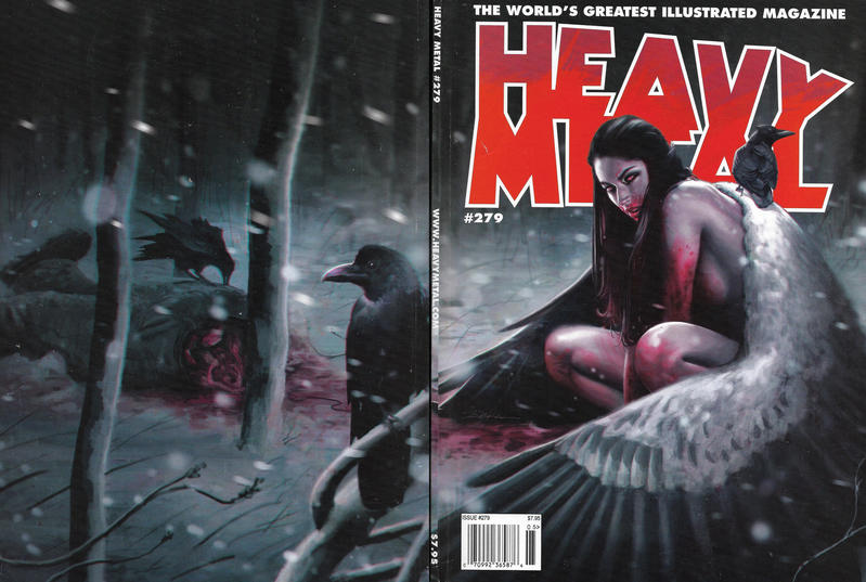 Cover for Heavy Metal Magazine (Heavy Metal, 1977 series) #279 [Jeff Dekal Subscriber / Comic Shop Cover]