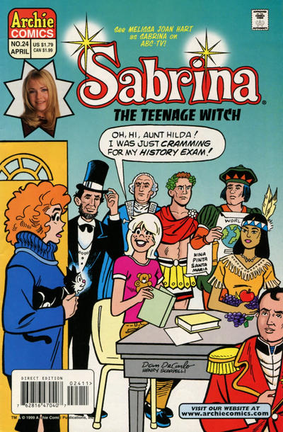 Cover for Sabrina the Teenage Witch (Archie, 1997 series) #24 [Direct Edition]