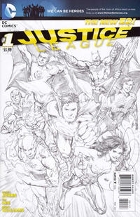 Cover Thumbnail for Justice League (DC, 2011 series) #1 [Seventh Printing - Ivan Reis Variant Sketch Cover]