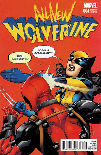 Cover for All-New Wolverine (Marvel, 2016 series) #4 [Incentive Tom Raney Deadpool Variant]