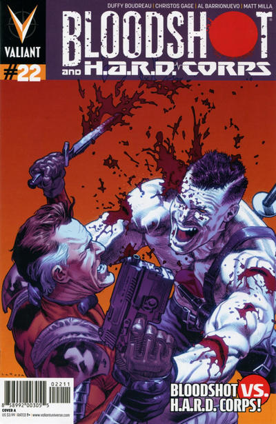 Cover for Bloodshot and H.A.R.D.Corps (Valiant Entertainment, 2013 series) #22 [Cover B - Roberto De La Torre]