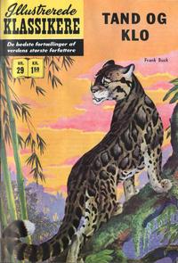 Cover Thumbnail for Illustrerede Klassikere (I.K. [Illustrerede klassikere], 1956 series) #29 - Tand og klo