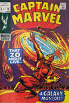Cover Thumbnail for Captain Marvel (1968 series) #15 [British Price Variant]