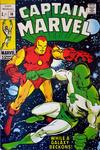 Cover for Captain Marvel (Marvel, 1968 series) #14 [British Price Variant]