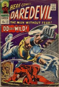 Cover Thumbnail for Daredevil (Marvel, 1964 series) #23 [British Price Variant]