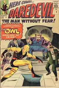Cover Thumbnail for Daredevil (Marvel, 1964 series) #3 [British Price Variant]