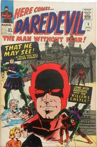Cover Thumbnail for Daredevil (Marvel, 1964 series) #9 [British Price Variant]