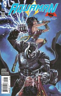 Cover Thumbnail for Aquaman (DC, 2011 series) #50 [Batman v Superman Cover]
