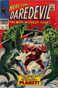 Cover Thumbnail for Daredevil (Marvel, 1964 series) #28 [British]