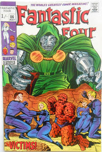 Cover Thumbnail for Fantastic Four (Marvel, 1961 series) #86 [British]