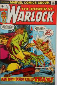 Cover Thumbnail for Warlock (Marvel, 1972 series) #4 [British]