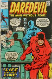 Cover Thumbnail for Daredevil (Marvel, 1964 series) #69 [British]
