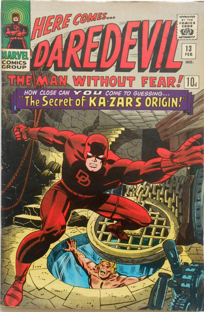 Cover for Daredevil (Marvel, 1964 series) #13 [Regular Edition]