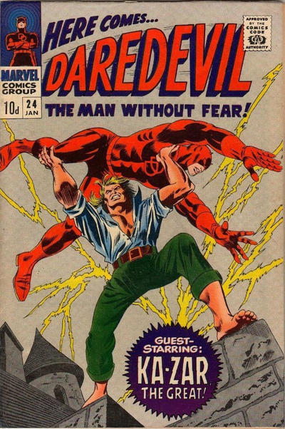 Cover for Daredevil (Marvel, 1964 series) #24 [Direct Edition]