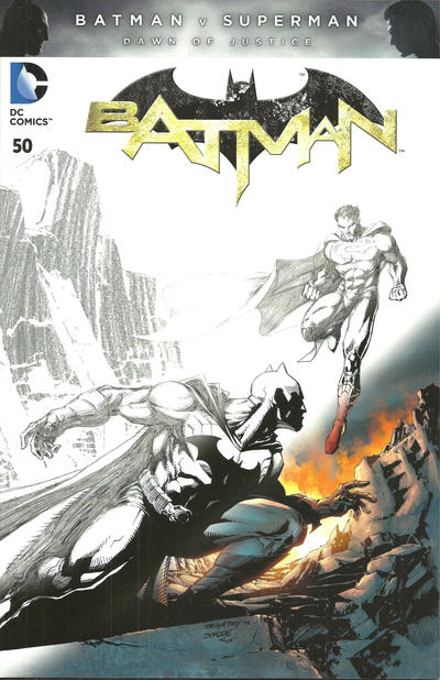 Cover for Batman (DC, 2011 series) #50 [Fried Pie Black and White Connecting Cover]