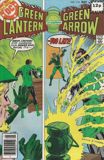 Cover for Green Lantern (DC, 1976 series) #116