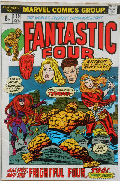 Cover for Fantastic Four (Marvel, 1961 series) #129 [Regular Edition]