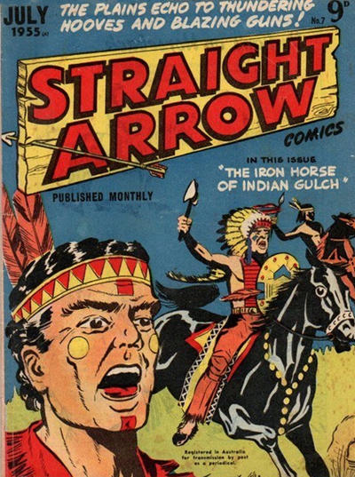 Cover for Straight Arrow Comics (Magazine Management, 1955 series) #7