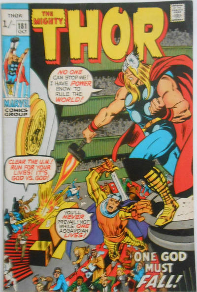 Cover for Thor (Marvel, 1966 series) #181 [Regular Edition]