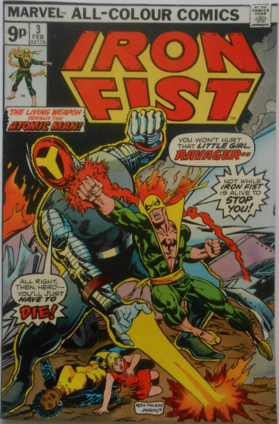 Cover for Iron Fist (Marvel, 1975 series) #3 [Regular Edition]
