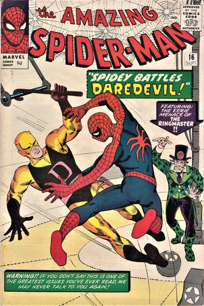 Cover for The Amazing Spider-Man (Marvel, 1963 series) #16 [British]