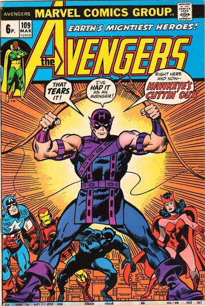 Cover for The Avengers (Marvel, 1963 series) #109 [Regular Edition]