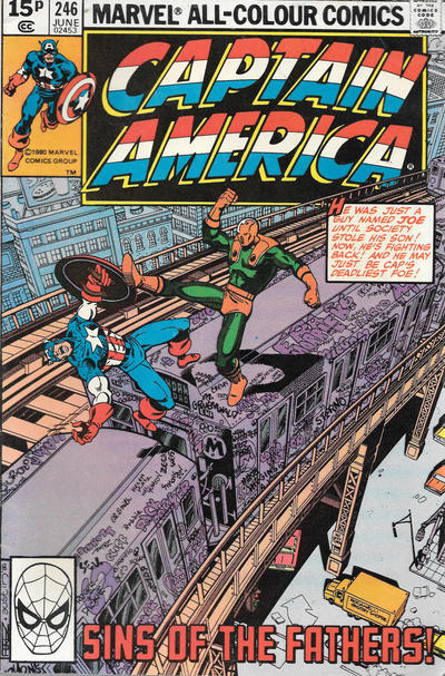 Cover for Captain America (Marvel, 1968 series) #246 [Direct Edition]