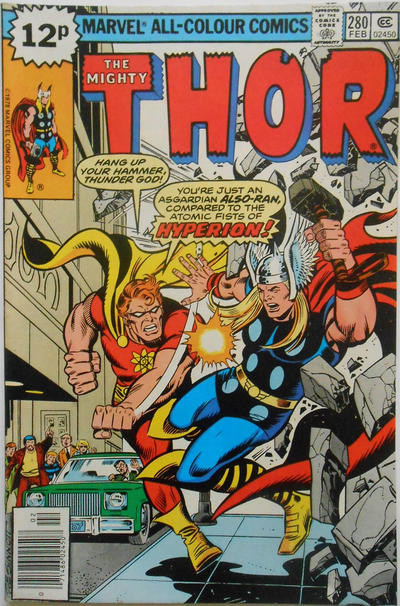 Cover for Thor (Marvel, 1966 series) #280 [Regular Edition]