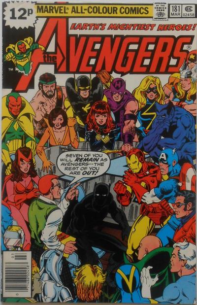 Cover for The Avengers (Marvel, 1963 series) #181 [Regular Edition]
