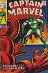 Cover for Captain Marvel (Marvel, 1968 series) #12 [British Price Variant]