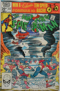 Cover Thumbnail for The Amazing Spider-Man (Marvel, 1963 series) #222 [British Price Variant]