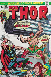 Cover Thumbnail for Thor (Marvel, 1966 series) #221 [British]