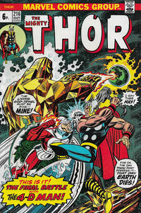 Cover Thumbnail for Thor (Marvel, 1966 series) #216 [British]