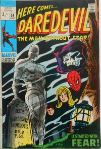 Cover Thumbnail for Daredevil (Marvel, 1964 series) #54 [British]