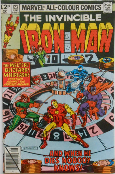 Cover for Iron Man (Marvel, 1968 series) #123 [Newsstand Edition]