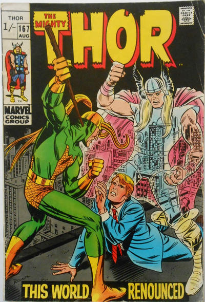 Cover for Thor (Marvel, 1966 series) #167 [British]