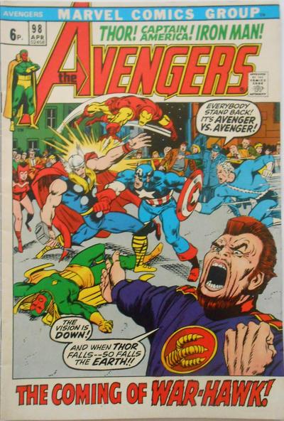 Cover for The Avengers (Marvel, 1963 series) #98 [Regular Edition]