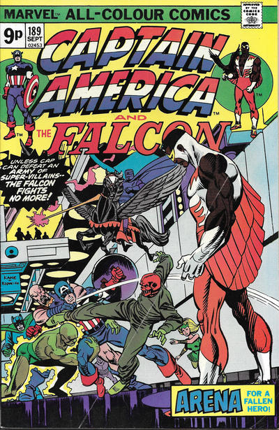 Cover for Captain America (Marvel, 1968 series) #189 [British]