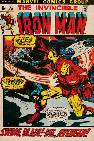Cover for Iron Man (Marvel, 1968 series) #51 [Regular Edition]