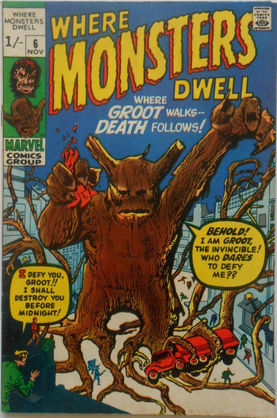 Cover for Where Monsters Dwell (Marvel, 1970 series) #6 [Regular Edition]