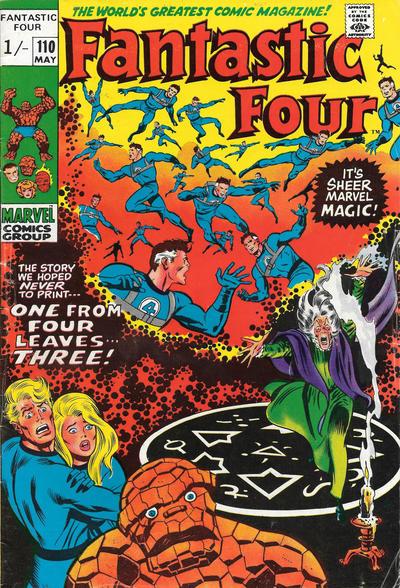 Cover for Fantastic Four (Marvel, 1961 series) #110 [Regular Edition]